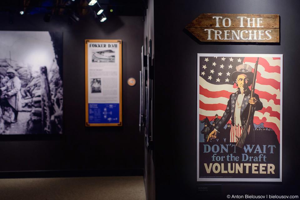 Seattle Museum of Flight: агитационные плакаты времен Первой мировой войны