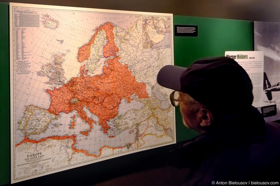 Seattle Museum of Flight: WWII Map
