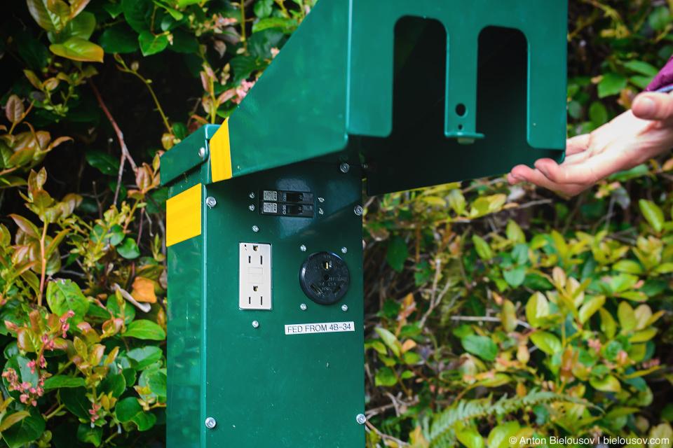 Электричество на кемпинге: Green Point Campground, Pacific Rim National Park, BC