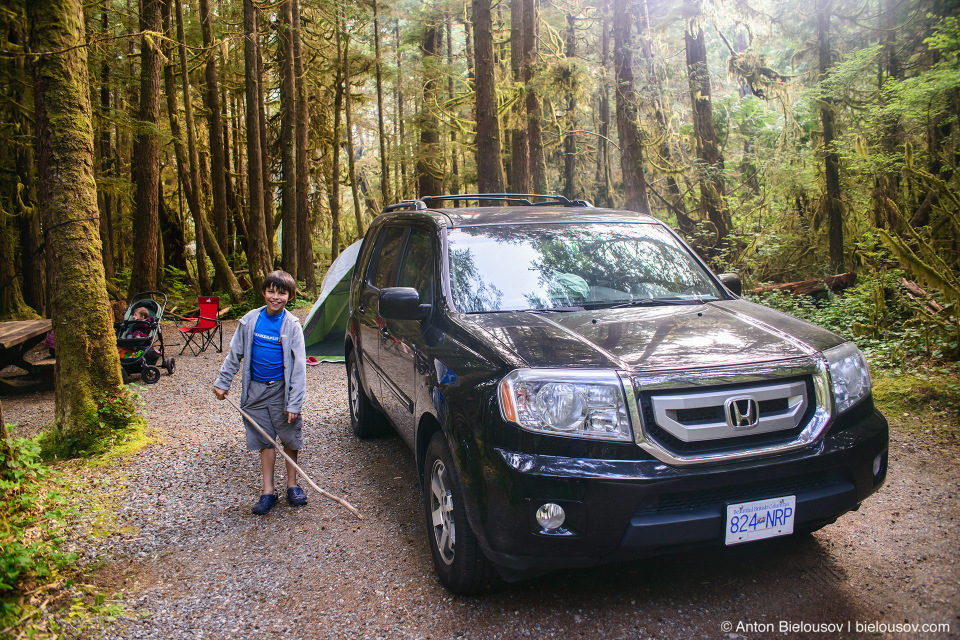 2009 Honda Pilot (Green Point Campground, Campsite #16, Pacific Rim National Park, BC)
