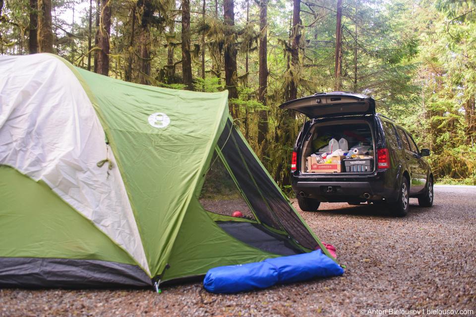 2009 Honda Pilot (Green Point Campground, Campsite #16, Pacific Rim National Park, BC)