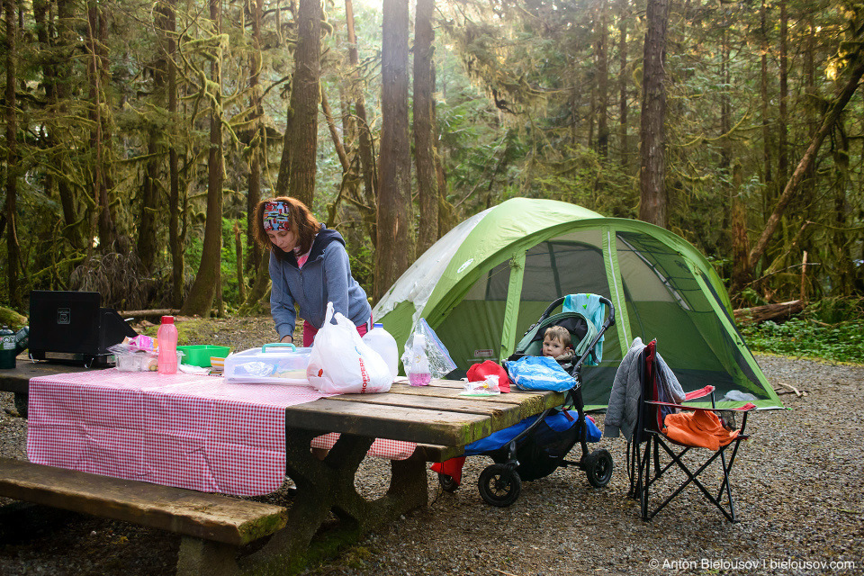 Green Point Campground, Campsite #16, Pacific Rim National Park, BC