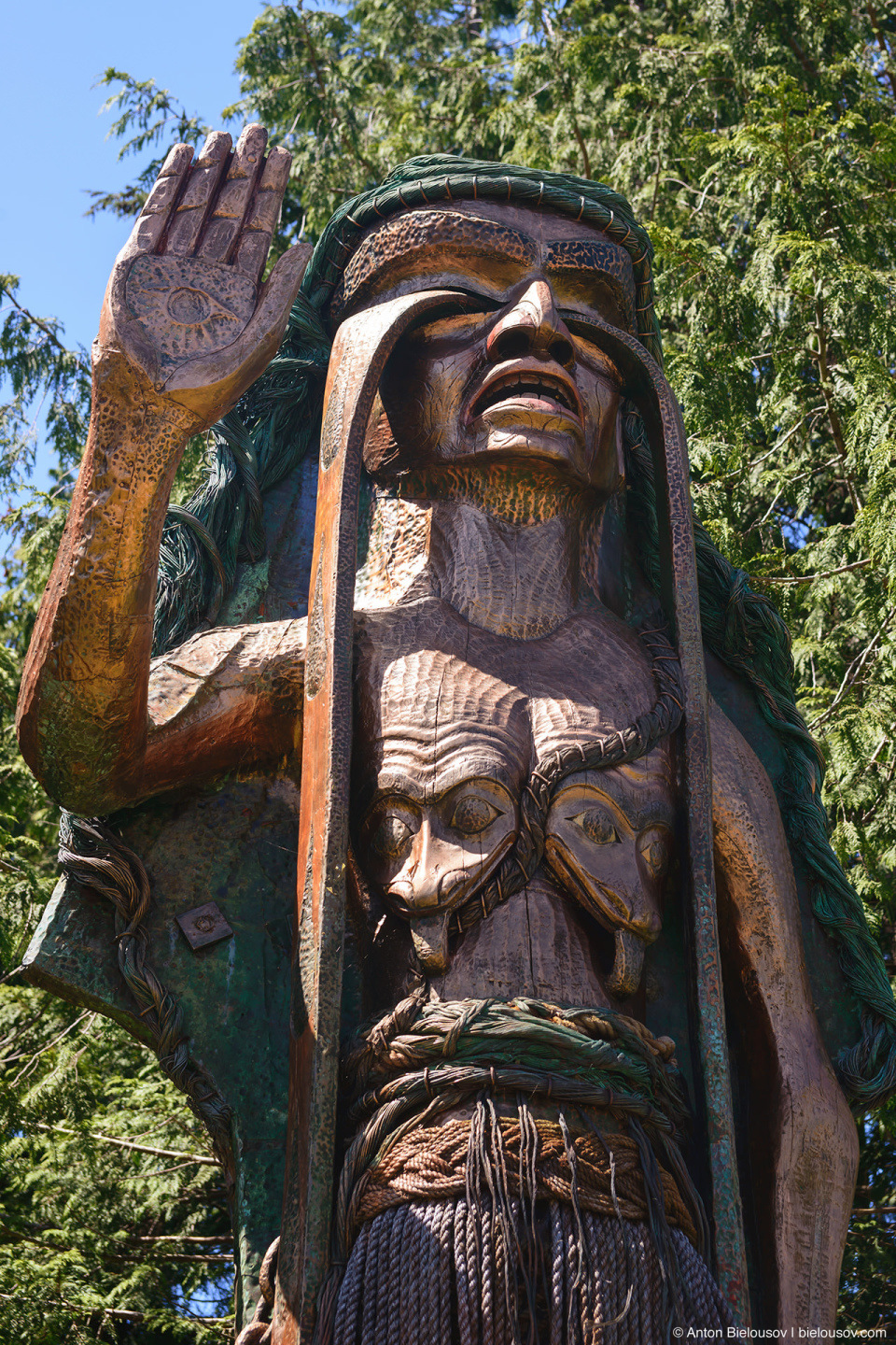 First Nations Woman Statue Tofino, BC
