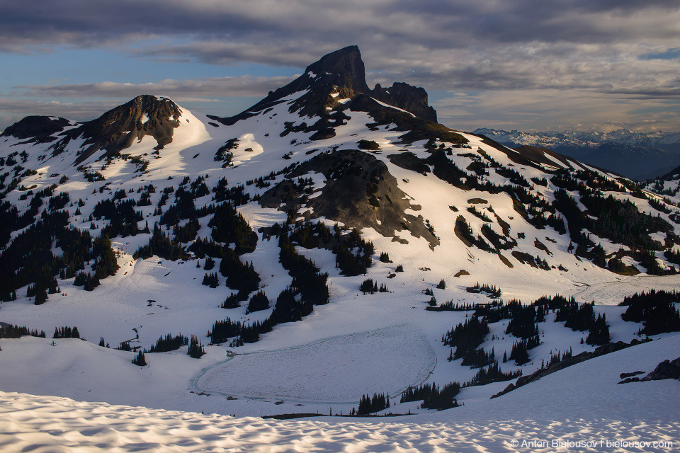 Black Tusk Peak and Lake