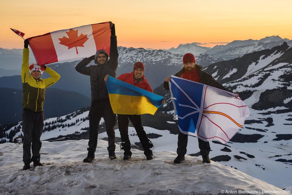 Canada Day sunrise at Panorama Ridge