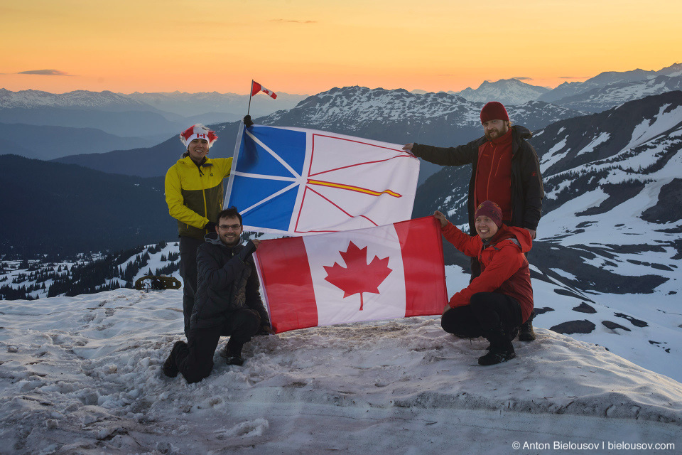 Canada Day sunrise at Panorama Ridge