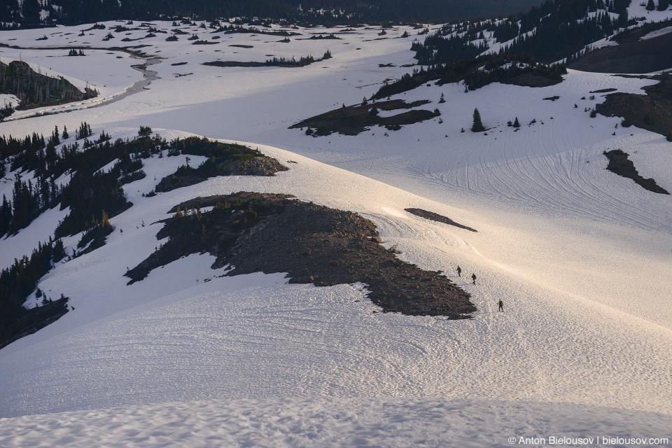 Panorama Ridge snowshoeing in July