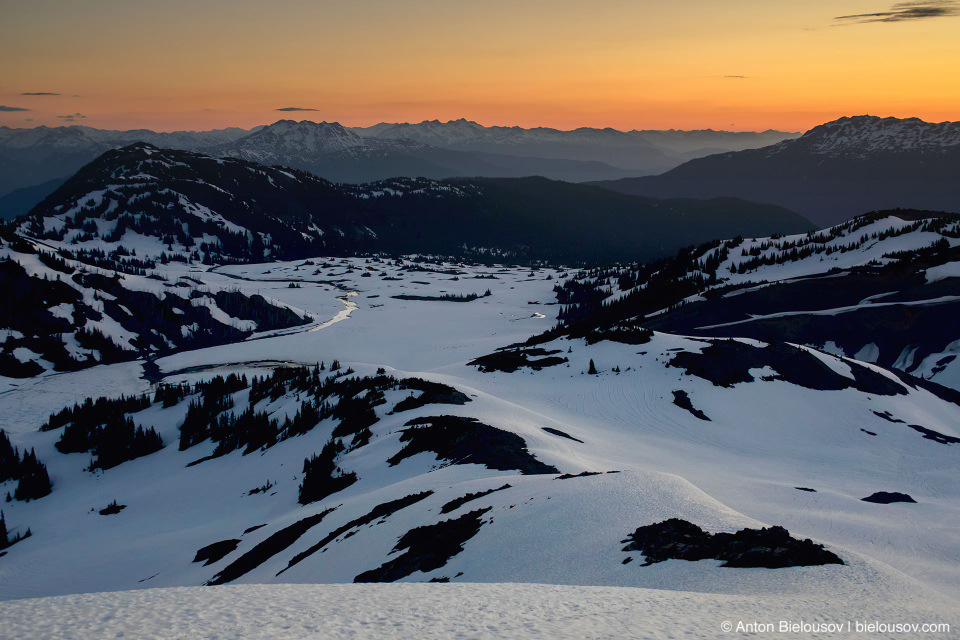 Panorama Ridge sunrise trail