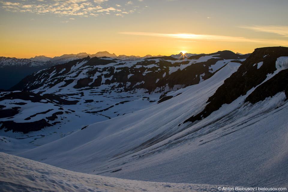 Восход солнца на пике Panorama Ridge