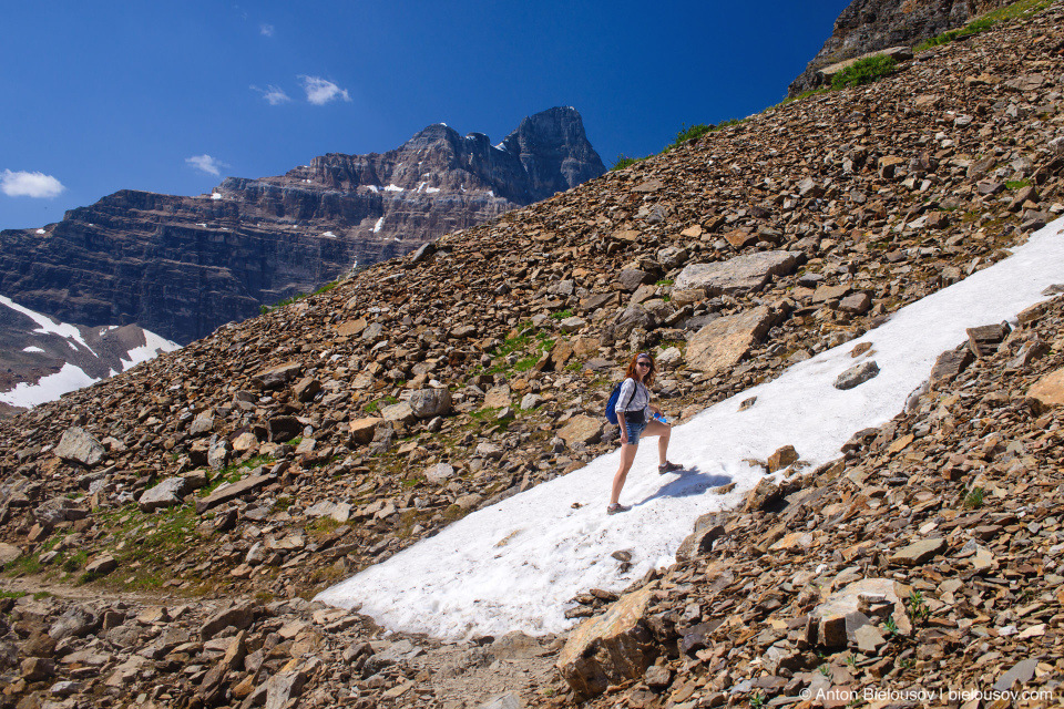 Snow at Wenkchemna Pass Trail (Lake Moraine, Banff National Park)