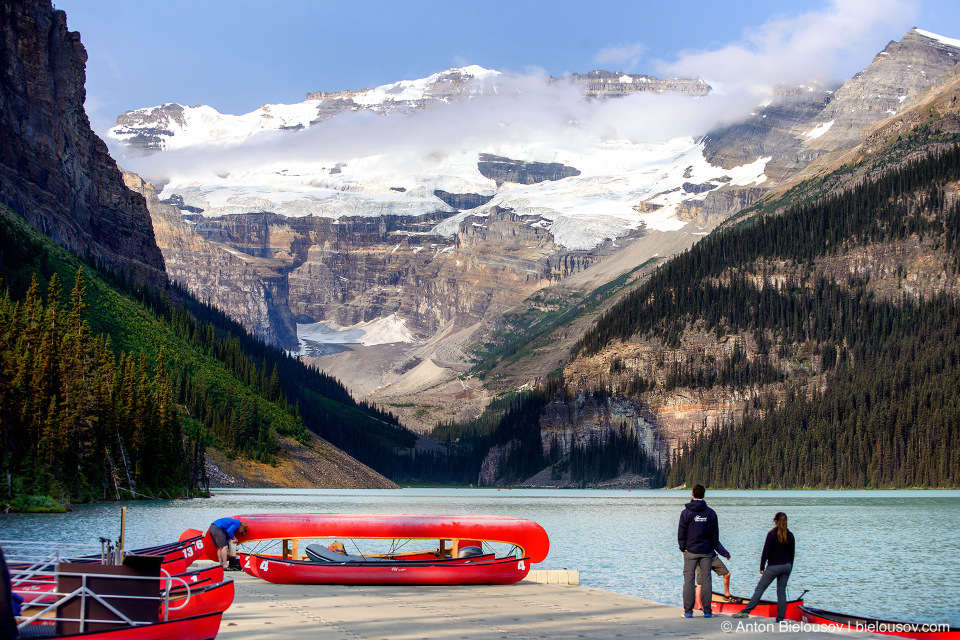 Kayak rentals at Lake Louise (Banff National Park)