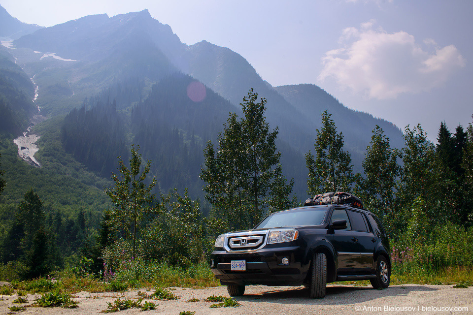 2009 Honda Pilot at Rogers Pass