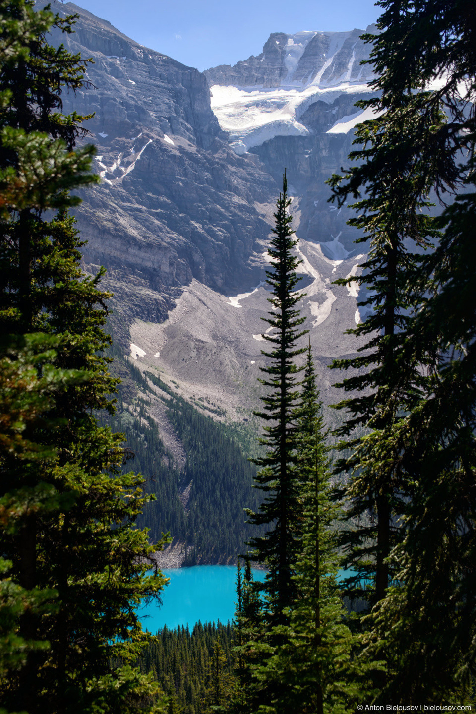 Lake Moraine from Eiffel Lake Trail (Banff National Park)