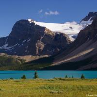 Озеро находится на самой границе ледяного поля Уапта, поэтому то здесь то там через хребты переваливают массивные ледники как, например, этот — ледник Кроуфут.