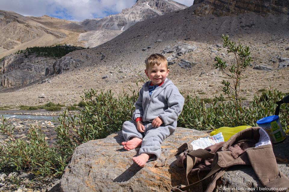 Nathan at Bow Glacier Falls (Banff National Park)