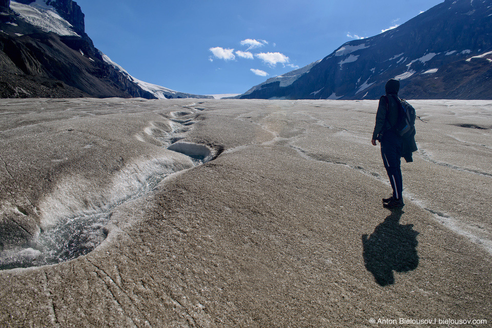 Hiking on Athabasca Glacier, Columbia Icefield, Jasper National Park