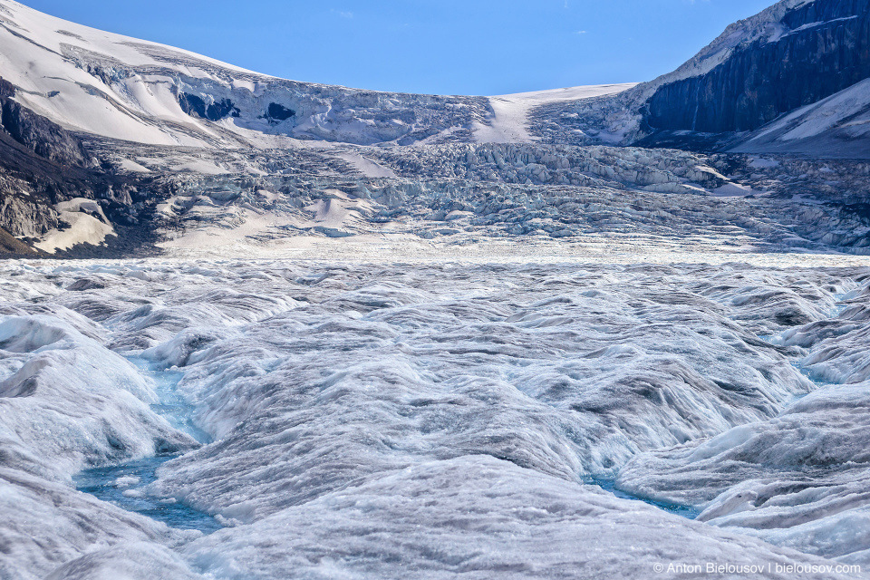 Athabasca Glacier ice fall, Columbia Icefield, Jasper National Park
