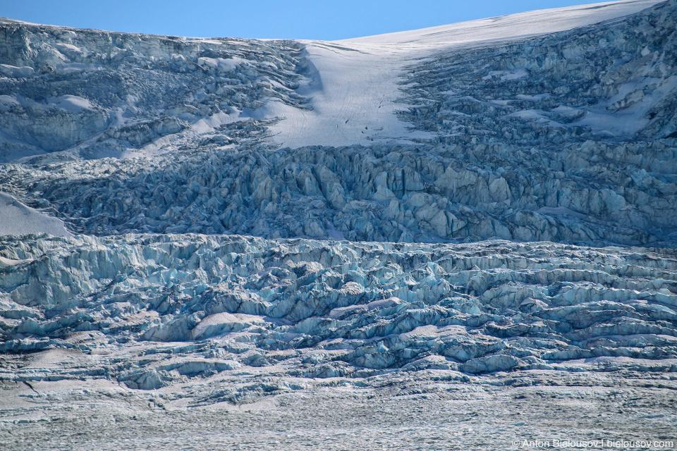 Athabasca Glacier ice fall, Columbia Icefield, Jasper National Park