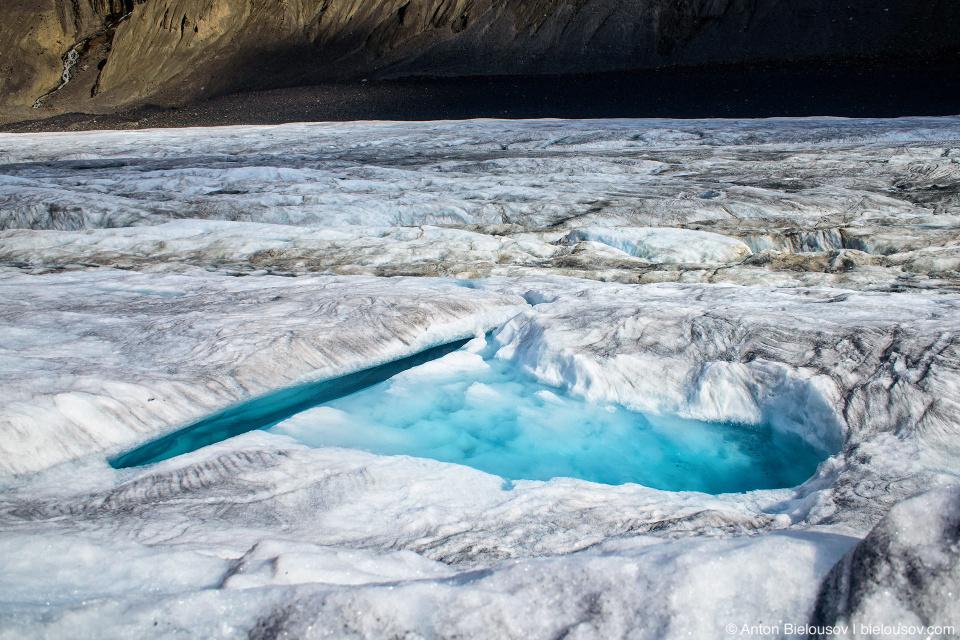 Crevasse in Athabasca Glacier, Columbia Icefield, Jasper National Park