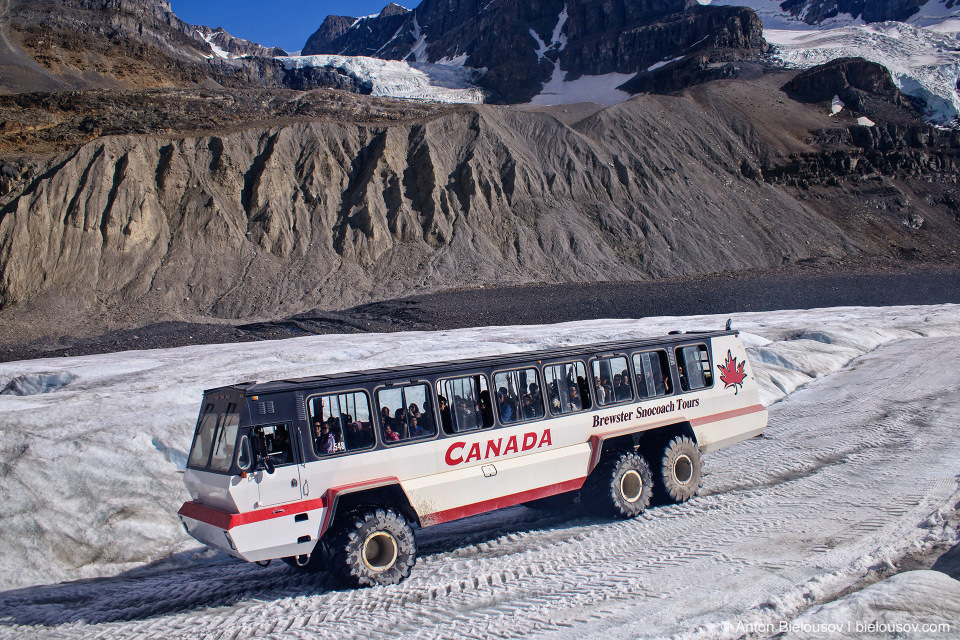 Athabasca Glacier Ice Explorer bus tour, Columbia Icefield, Jasper National Park