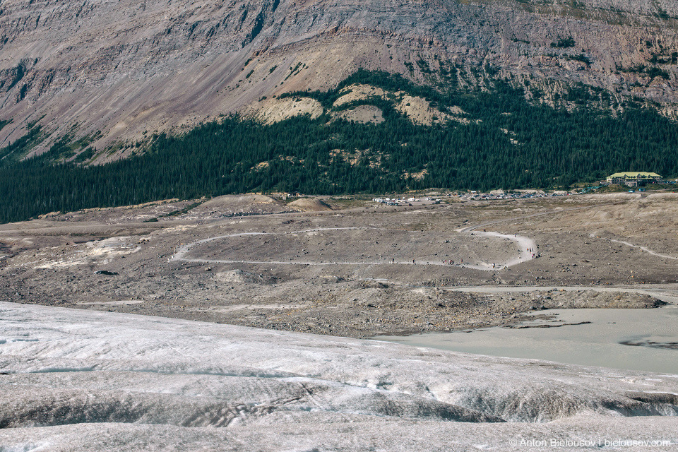View from Athabasca Glacier, Columbia Icefield, Jasper National Park