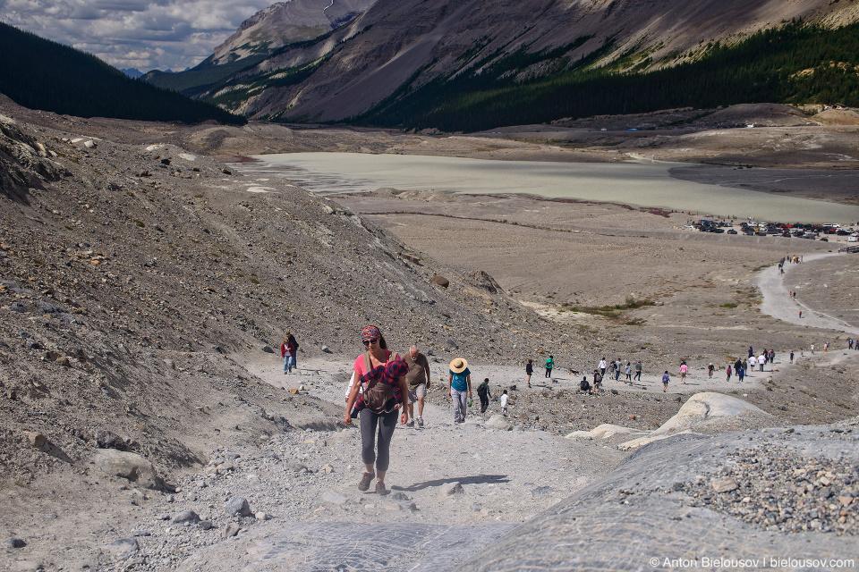Athabasca Glacier trail, Columbia Icefield, Jasper National Park