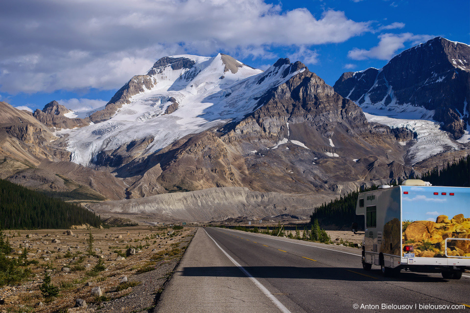 Icefields Parkway, Athabasca Glacier, Columbia Icefield, Jasper National Park