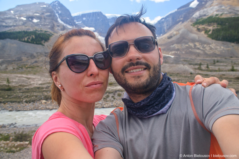 Selfie at Columbia Icefield, Jasper National Park
