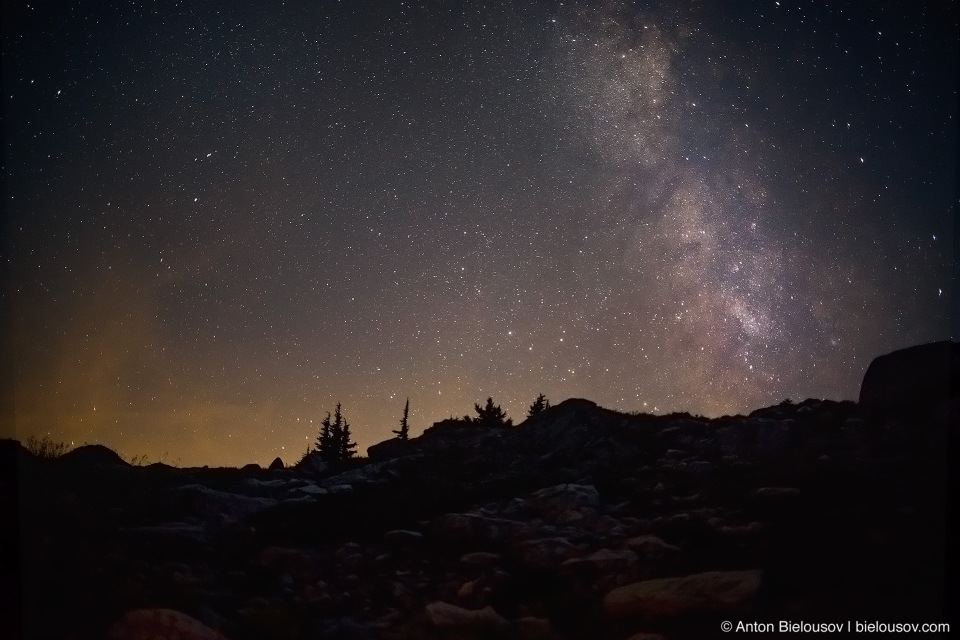 Milky Way from Mount Sproatt in Whistler, BC