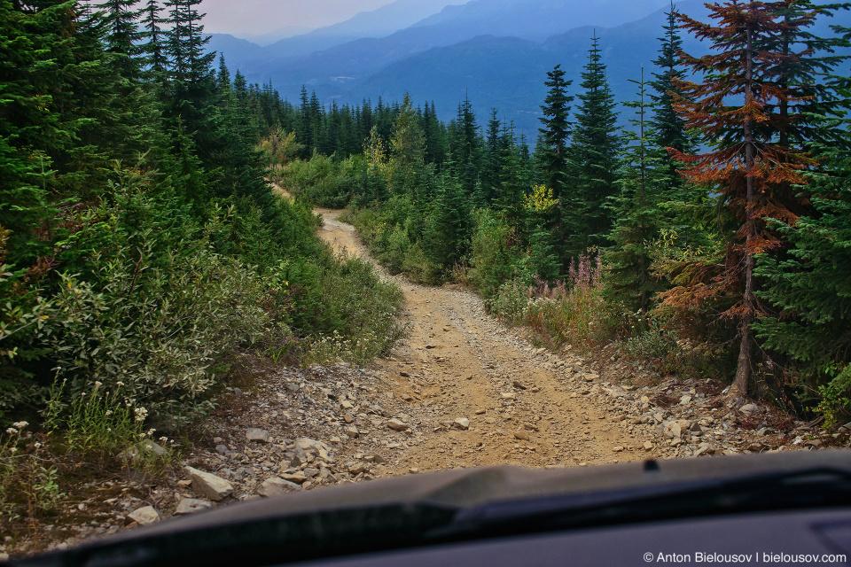 Honda Pilot at Mount Sproatt forestry service road