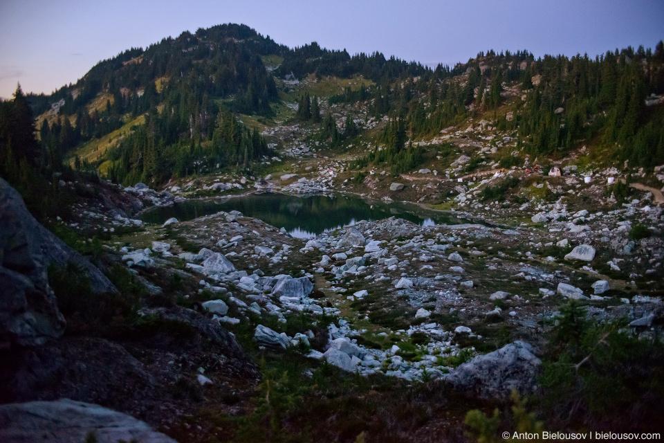 Mount Sproatt alpine lake