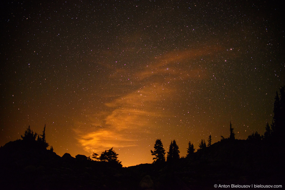Night sky over Whistler, BC