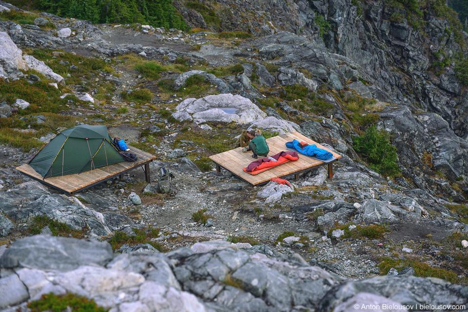Golden Ears Peak Campsite