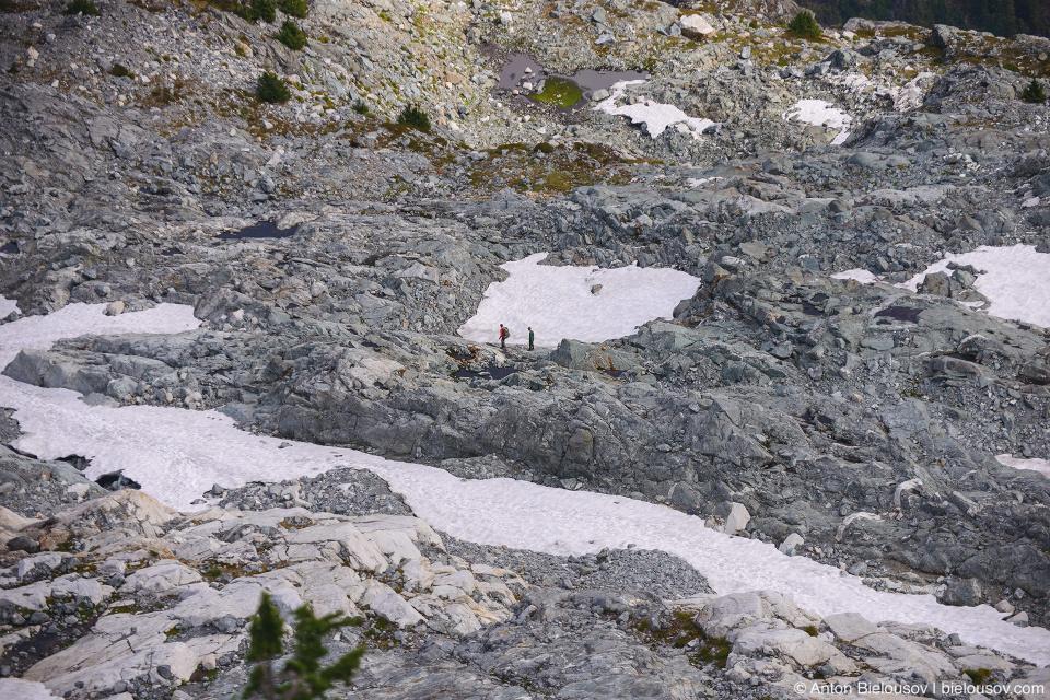 Golden Ears Peak permanent snow