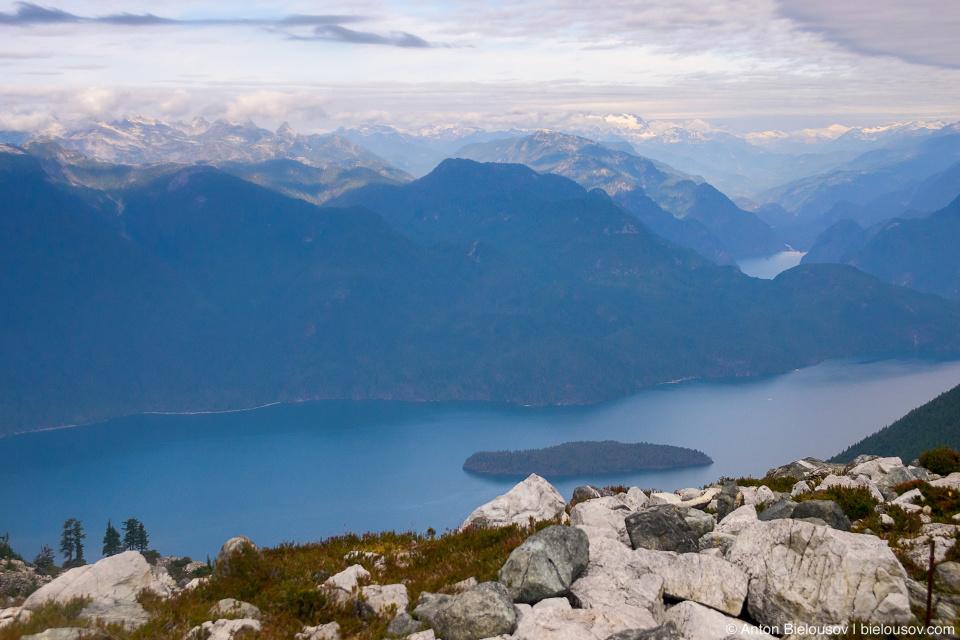 Golden Ears Peak trail view to Pitt Lake