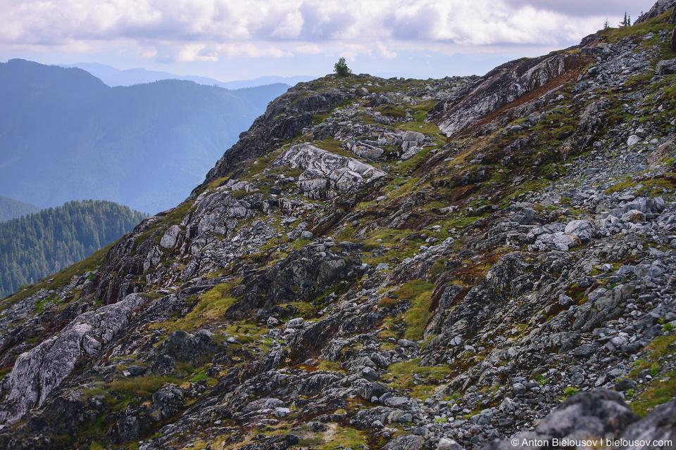 Rocky Golden Ears Peak trail