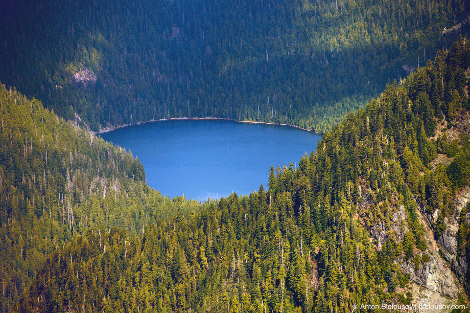 Raven Lake view from Golden Ears Peak