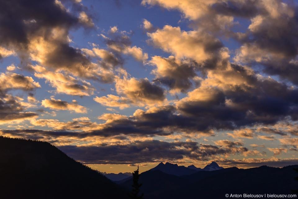 Облака на вечернем небе, Manning Provincial Park, BC
