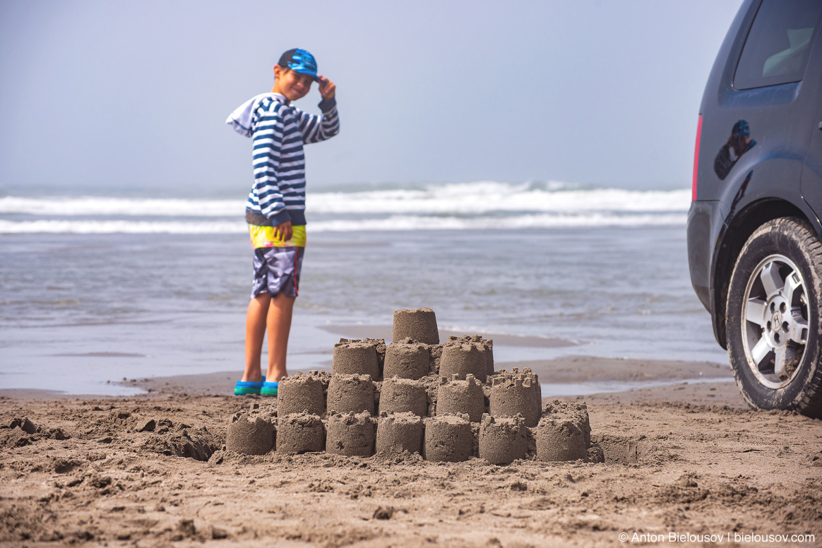 Sand castle — Long Beach, WA