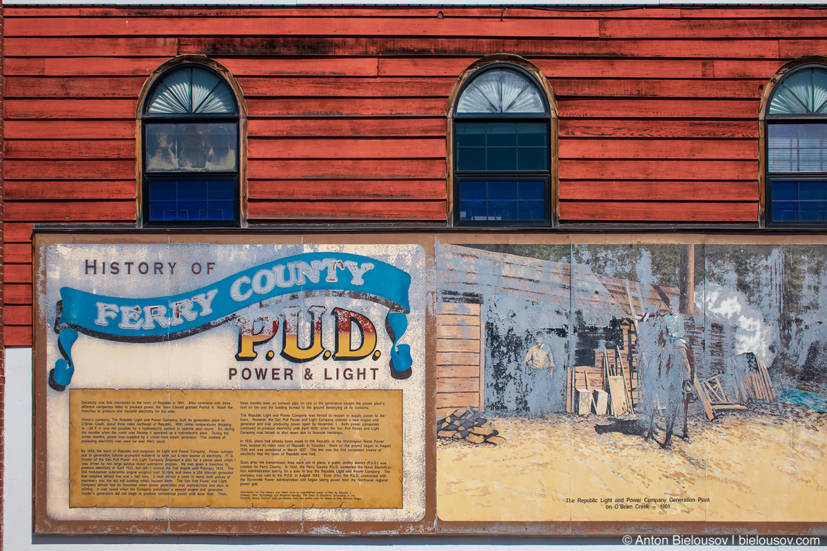 Ferry County Power and Light mural — Republic, WA