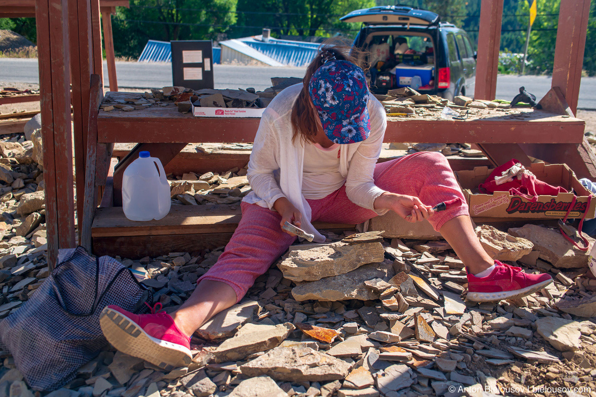 Stonerose fossils site — Republic, WA