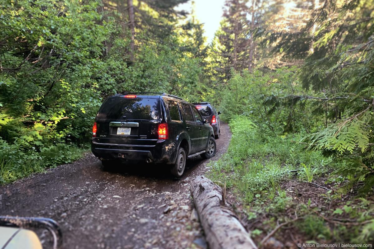 Honda Pilot spare tire — Mount Cheam (Chilliwack, BC)